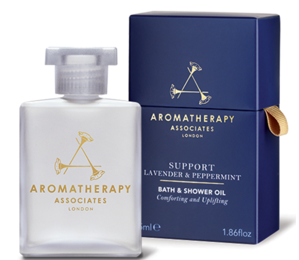 AROMATHERAPY SUPPORT LAVENDER AND PEPPERMINT BATH AND SHOWER OIL